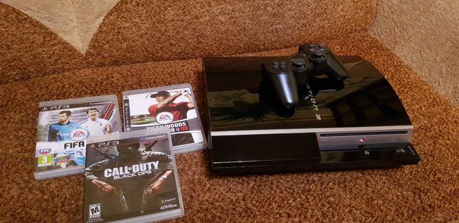 Sony Playstation 3 160гиг прошита +35игр+3 диска!!!