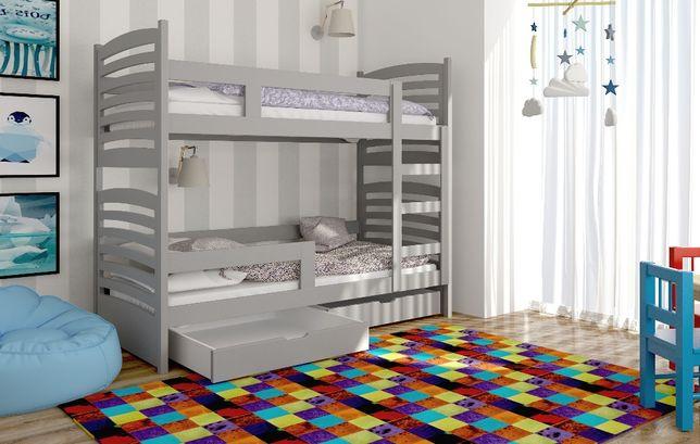 łóżko piętrowe Olek! Drewno sosnowe! Kolory do wyboru!