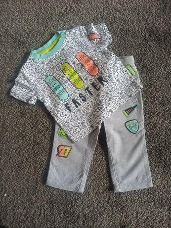 Komplet 62, krótki rękaw, spodnie. Chłopiec, coccodrillo