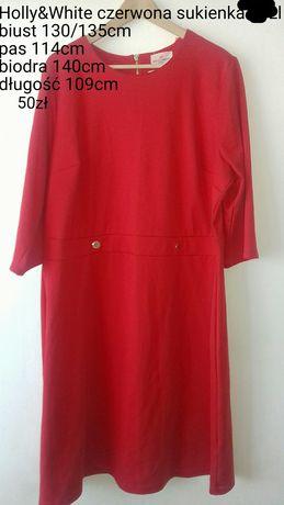 Sukienka czerwona 50/52