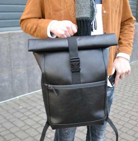 рюкзак роллтоп из эко-кожи