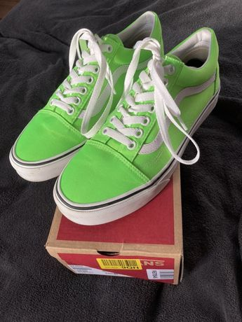 Vans old skool neon green gecko