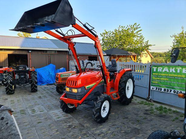 Mini Traktor,japoński,ogrodniczy,31KM,rewers,wspomaganie,ładowacz
