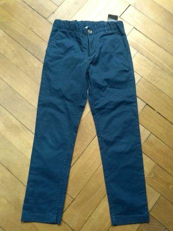 Spodnie chinos H&M, rozmiar 122 Stan bdb