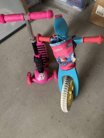 Rowerek biegowy i hulajnoga