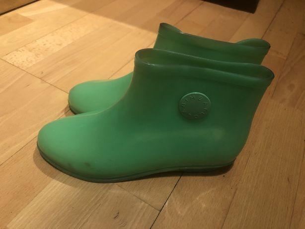 Botas/botins de chuva verde agua como novas BIMBA Y LOLO TAM 39