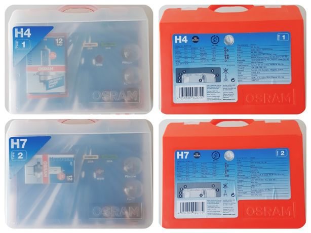 kit reposição lâmpadas  Osram H7 e H4