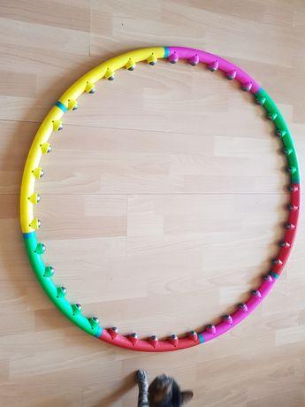 Hula hop z wypustkami składane