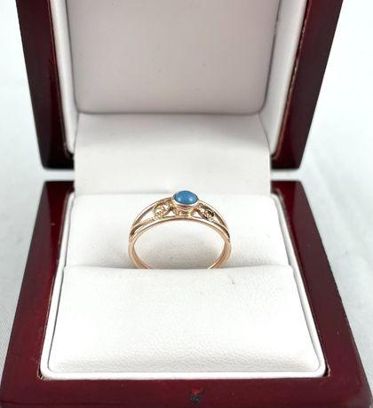 ZŁOTY pierścionek PR. 583 (14K), rozmiar 15