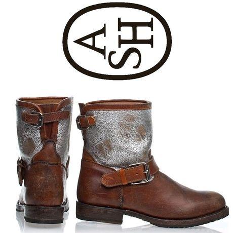 Новые ботинки ASH кожа р.37,5-38