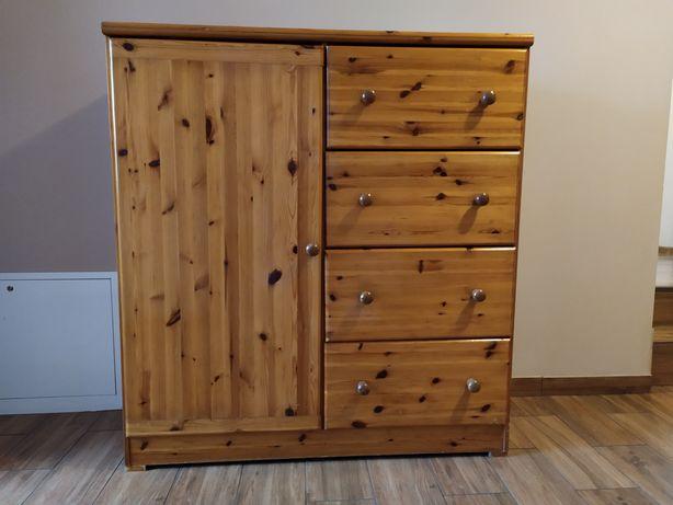 Sosnowa szafa | 4 szuflady + drzwi