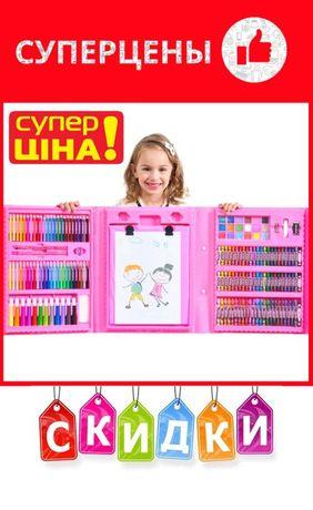 ДетскийБольшой набор с мольбертом для творчества и рисования Set874