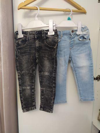 Spodnie 92 Zara Reserved joggersy jeansy