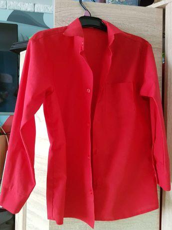 Koszula czerwona chlopięca