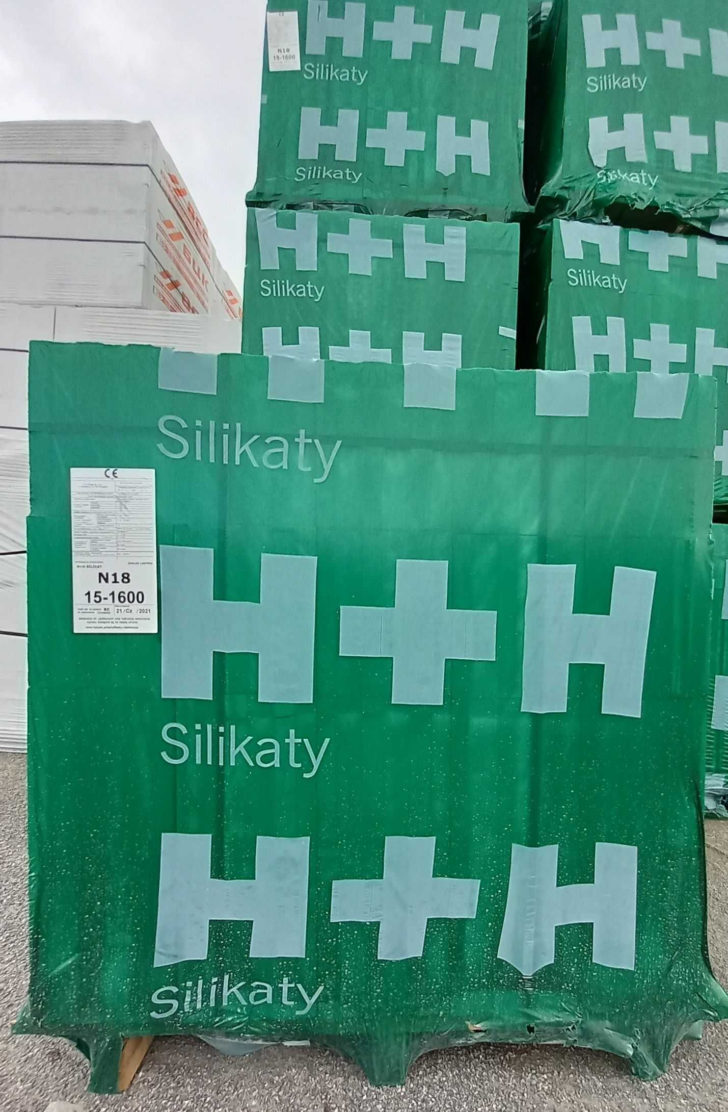 Silikaty H+H  N18, 250dłx180szer x220wys, KL 15 - 9000 szt