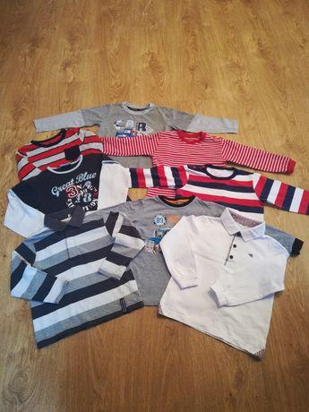 Bluzeczki z długim rękawem, rozmiar 92 - 98, 8 szt,