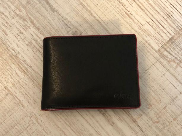 Nowy, skórzany portfel