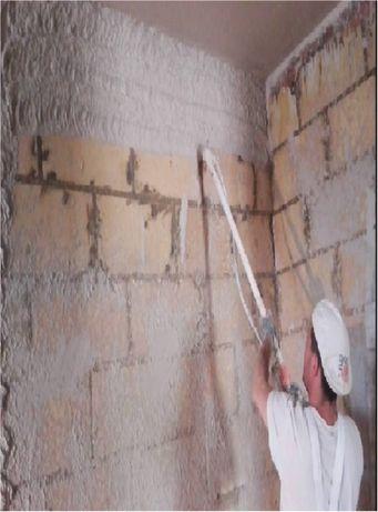 Tynki maszynowe cementowe-wapienne,gipsowe