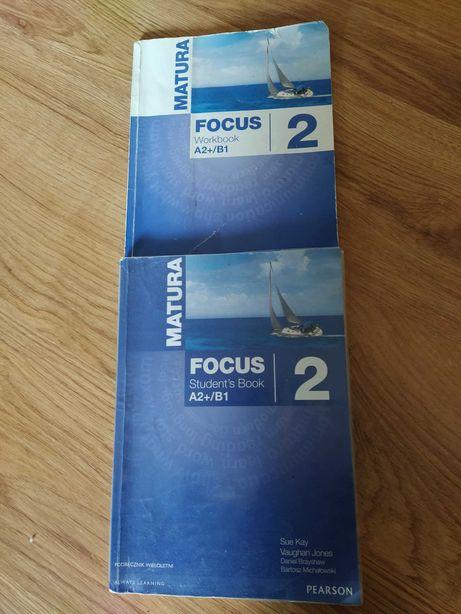 Matura focus 2.. kpl.. podręcznik i ćw..  wyd. Pearson.. stan bdb..