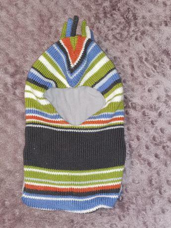 Шлем шапка зимний на микрофлисе - 48р.