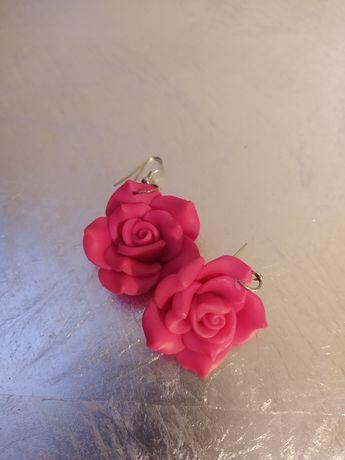 Kolczyki z modeliny róże