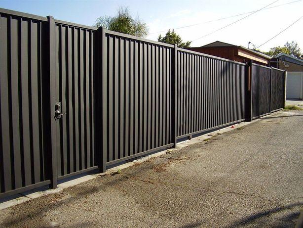 Забор, калитки, ворота из профнастила,евроштакетника,сетка!