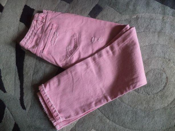 Nowe różowe dżinsy DENIM CROPP M/38