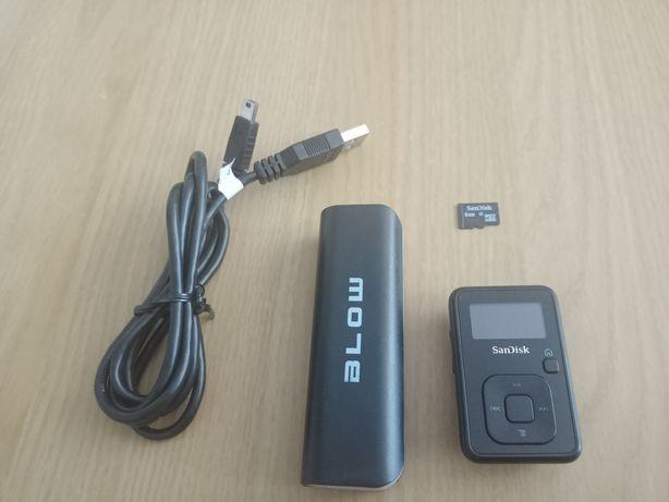 MP3 Sandisk Sansa + powerbank i 8gb