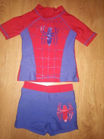 Купальный костюм плавки шорты футболка Человек паук 2-3 года