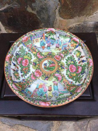 Prato em Porcelana Chinesa do séc XIX 21,5 cm