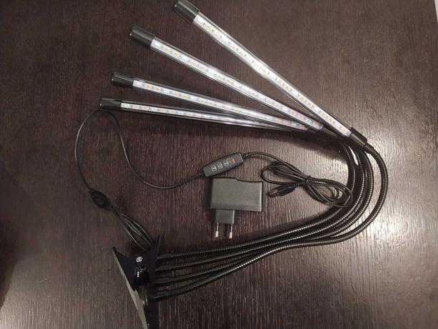 4W1 Lampa do wzrostu roślin Grow Light LED klips