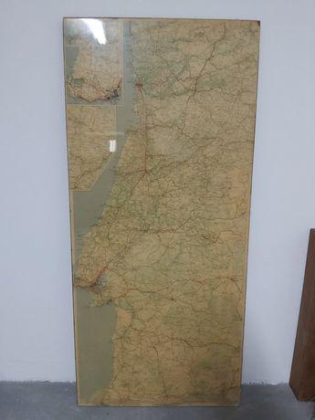 Quadro antigo do Mapa de Portugal