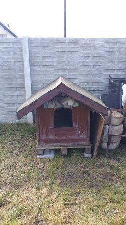 Buda dla psa dużego lub średniego ocieplona dach bitmuniczny