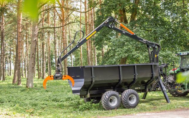 Przyczepa leśna BMF 8T1 z Żurawiem BMF 650