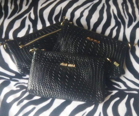 Женская кожаная сумка клатч.