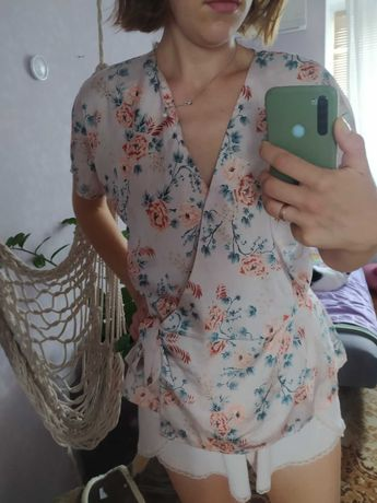 Кимоно халат парео блуза шелк NEW LOOK 14 44
