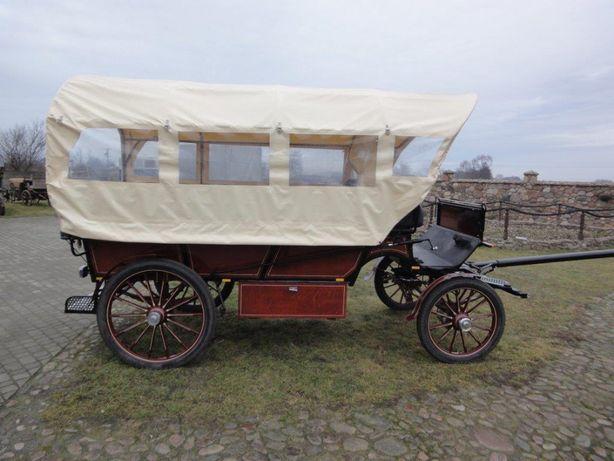 Powóz konny - bryczka - Wagonetka z dachem