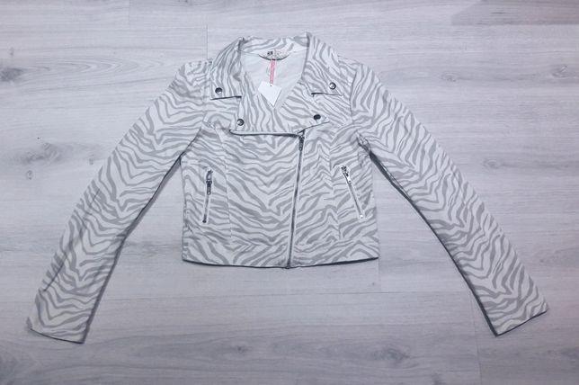 H&M kurtka ramoneska zebra 170 nowa