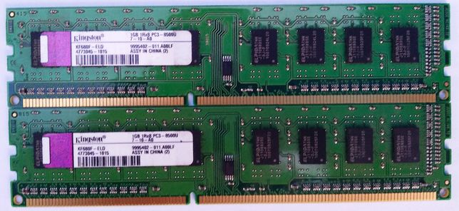 Kingston DDR3 1Gb 1Rx8 PC3-8500U-7-10-A0 KF680F-ELD 4773045 1066MHz