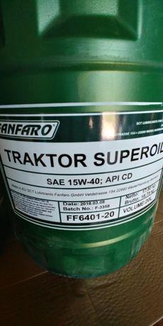 Olej silnikowy FANFARO TRACTOR 15w40 API SG/CD Germany 20 litrów