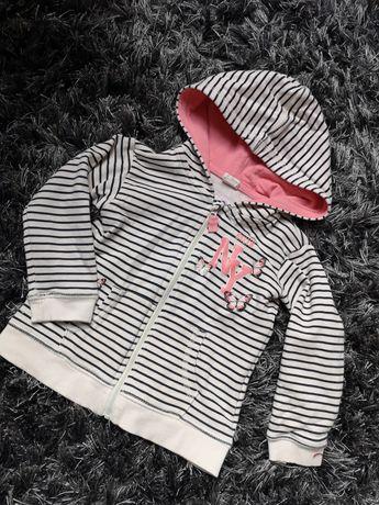 Bluza na zamek z kapturem h&m