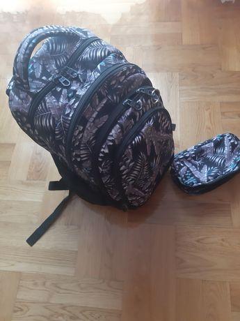 Plecak szkolny z piornikiem