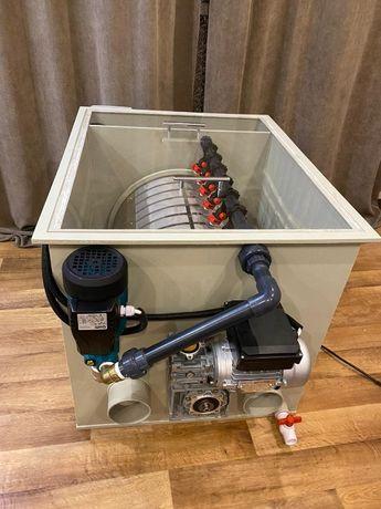 Барабанный фильтр для УЗВ и пруда с КПД до 98%.