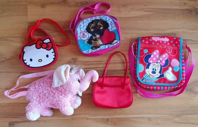 Torebki zestaw torebek TOREBKA Hello Kitty, Mice Mouse, Słonik
