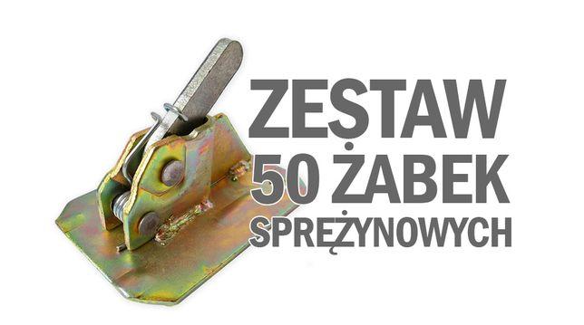 Żabki zaciski szalunkowe ocynkowane 50 sztuk ABCSzalunki do szalunków