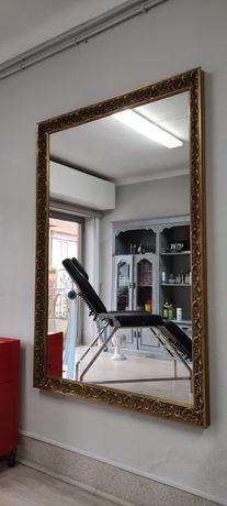 Espelho moldura dourada novo
