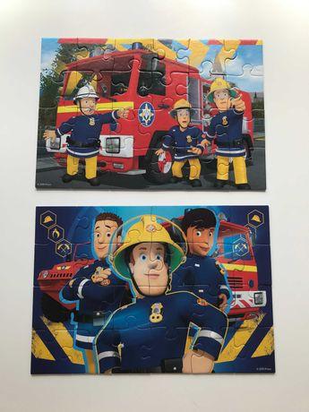 Puzzle 2X24 sztuki: Strażak Sam (dwa obrazki dla dzieci +4)