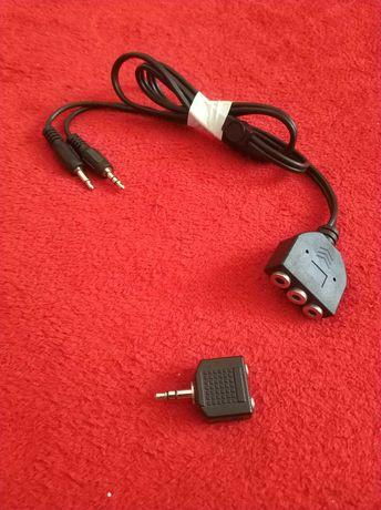 Kabel,przewód jack (dżak),gniazdo,przejściówka,stereo do sluchawek