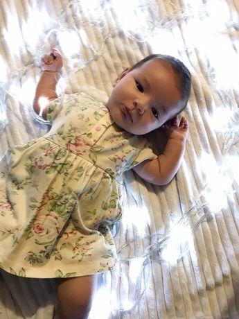 Платье - бодик на 0-3 месяца для принцессы