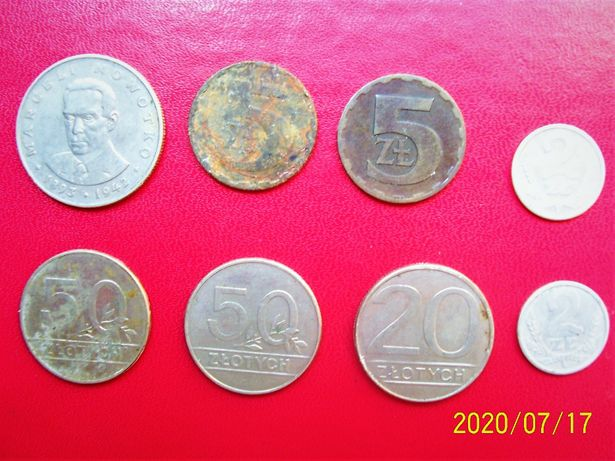 Zestaw monet starych Polskich